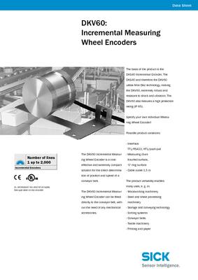 DKV60: Incremental measuring wheel encoder